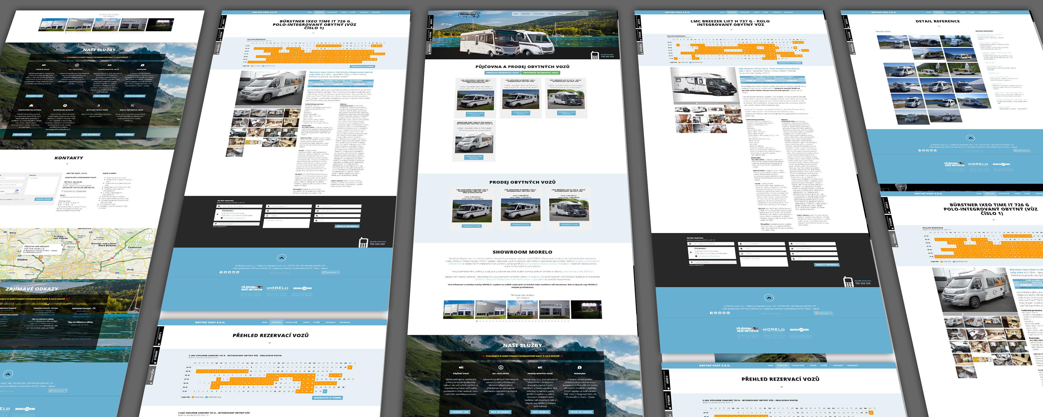 Obytné vozy - foto projektu